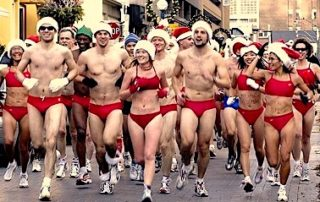 Running in speedos? What could be more fun at Christmas time?