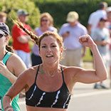 Runners at the Falmouth Triathlon finish strong.