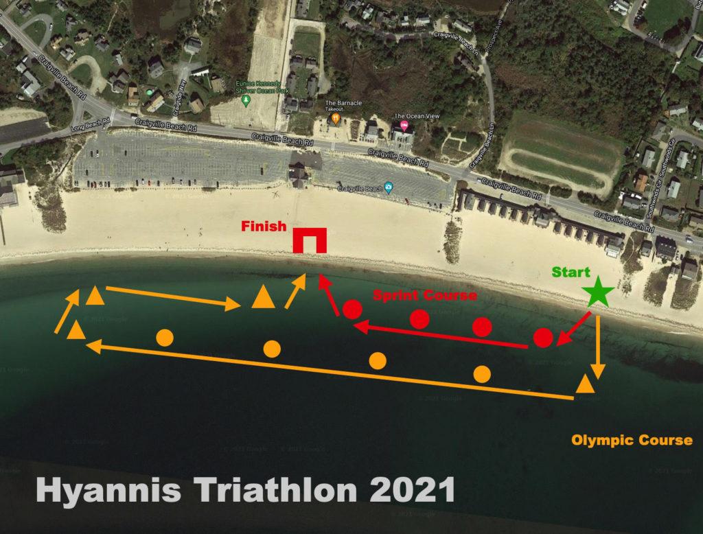New swim course for the Hyanis Triathlon